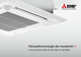 4-weg cassette-units voor Mr. Slim en City Multi
